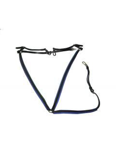 Wahlsten læderfortøjr med blå foring.