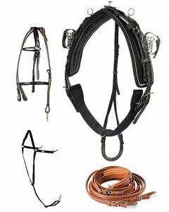 Travsele Pro Qh-sele Finntack læder/syntetisk, komplet