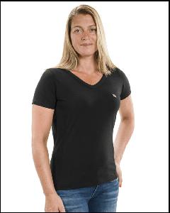 T-Shirt med V-hals fra Back on Track