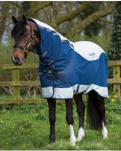 Rambo Summer Series Turnout fra Horseware - Navy & Grey with Navy