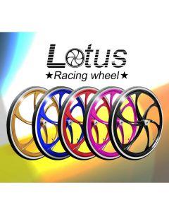 Lotushjul i flotte farver