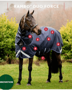 Rambo Duo Force 100G incl hals & 100G & 300G liner fra Horseware