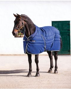rambo cosy stable Navy with beige, baby blue & navy